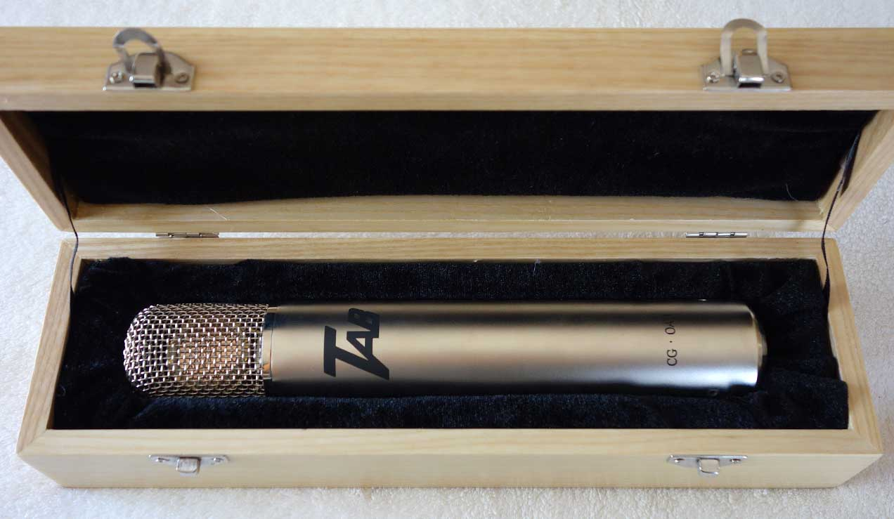 NEW Cathedral Guitars OA-1 Tube Mic Designed by Oliver Archut w/German Masterworks AKG Brass Ring CK-12 optimized by Klaus Heyne