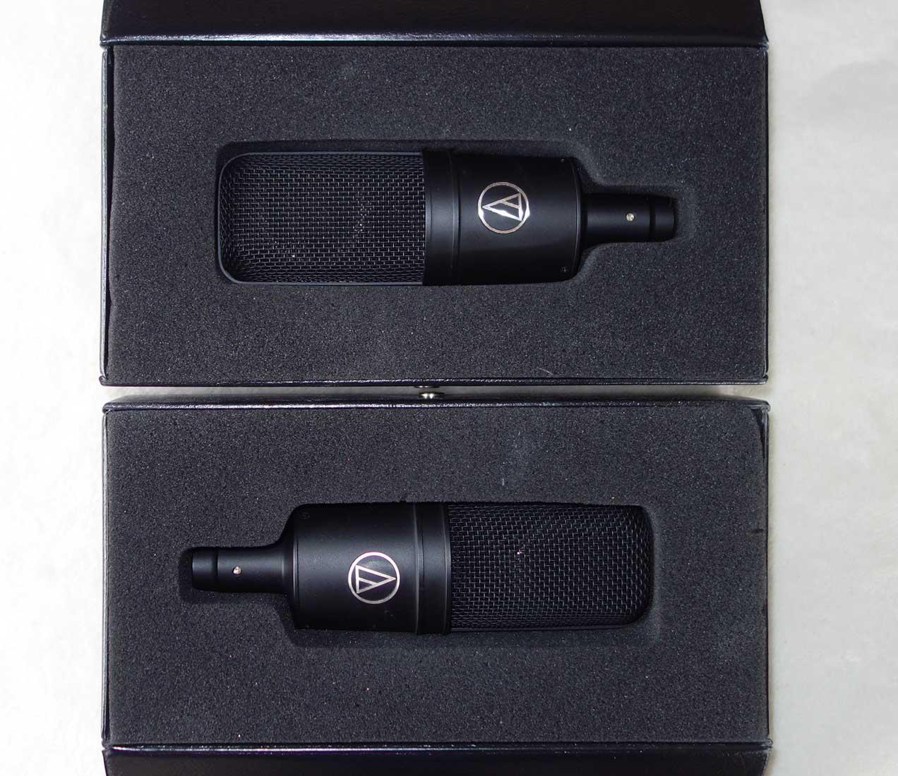 Vintage 1990s Audio Technica AT-4033A Cardioid Condenser Mic Pair w/Original Mounts, Cases