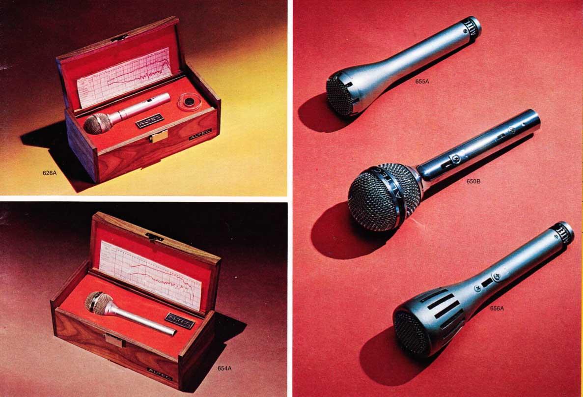 Vintage 1973 Altec 655A Low Impedance Dynamic Mic
