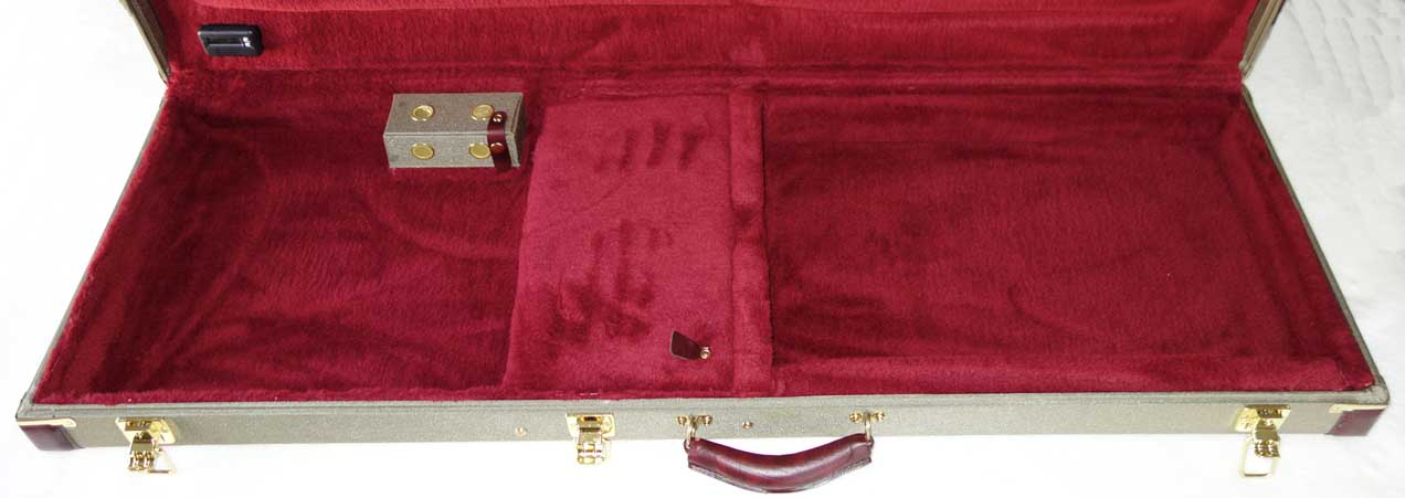 NEW Ameritage AME-60E Gold Series Professional Contoured Case, End-Sewn for Fender Precision/Jazz Bass + Gibson EB-Series Basses