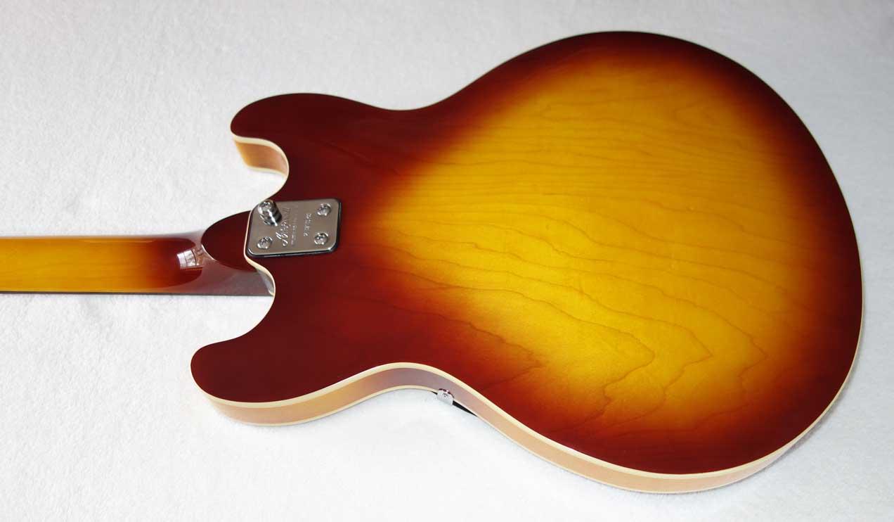 2002 Aria Pro II TA-40/12 Hollow Body 12-String Guitar in Sunburst Finish