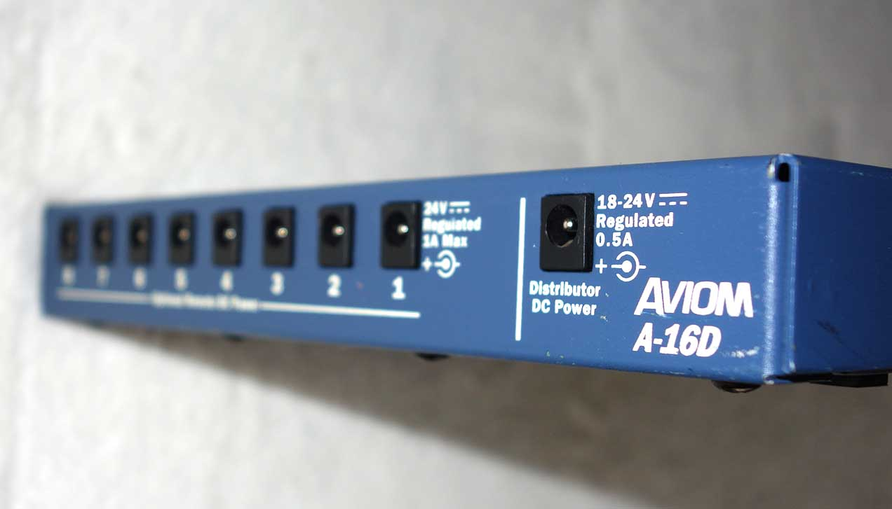 Used Aviom A16-D Net Distributor / Power Supply for A-16 Personal Mixers