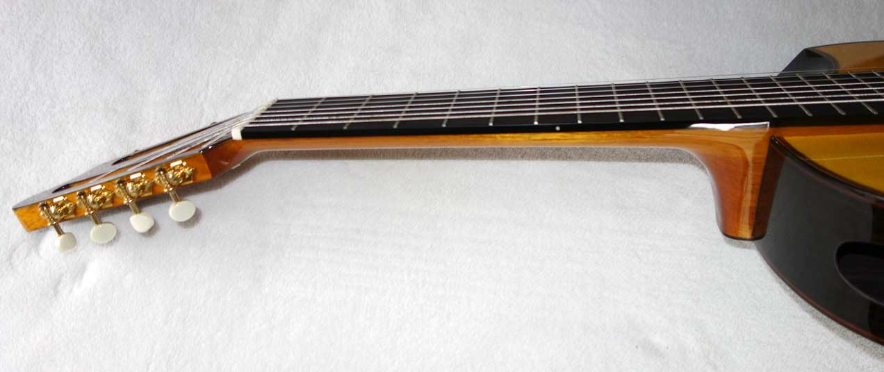 New MILAGRO Master Series JP+7S Classical 7-String Harp Guitar w/Fanned Frets, Sound Port, elevated fingerboard, armrest/bevel, and a biteaway/cutaway