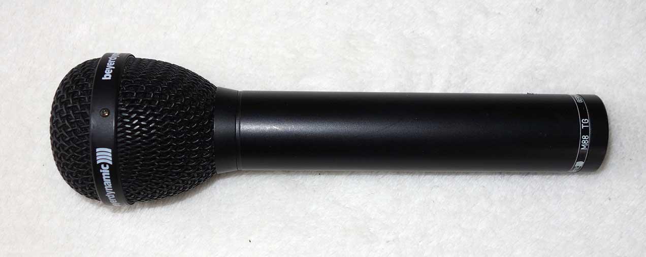 Beyerdynamic M88TG Dynamic Mic w/Soft Case, Mic Clip