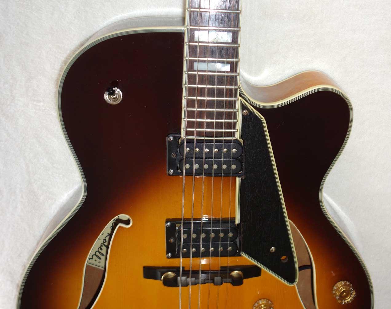 2003 Carlo Robelli D120 Manhattan (Peerless Monarch) Sunburst Archtop Guitar w/Schaller PUPs!!