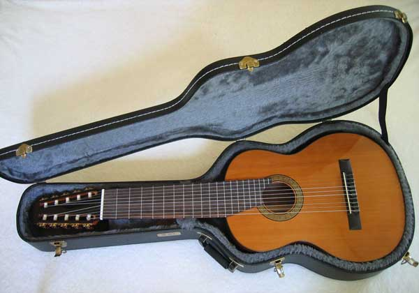CATHEDRAL GUITAR Model 125 10-String Classical Harp Guitar [Cedar / Mahogany] & Used TKL Hardshell Case