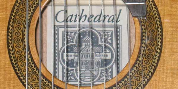 Cathedral Guitar Model 125CEL Classical Harp Guitar with Cutaway, & BBand A3T Pickup