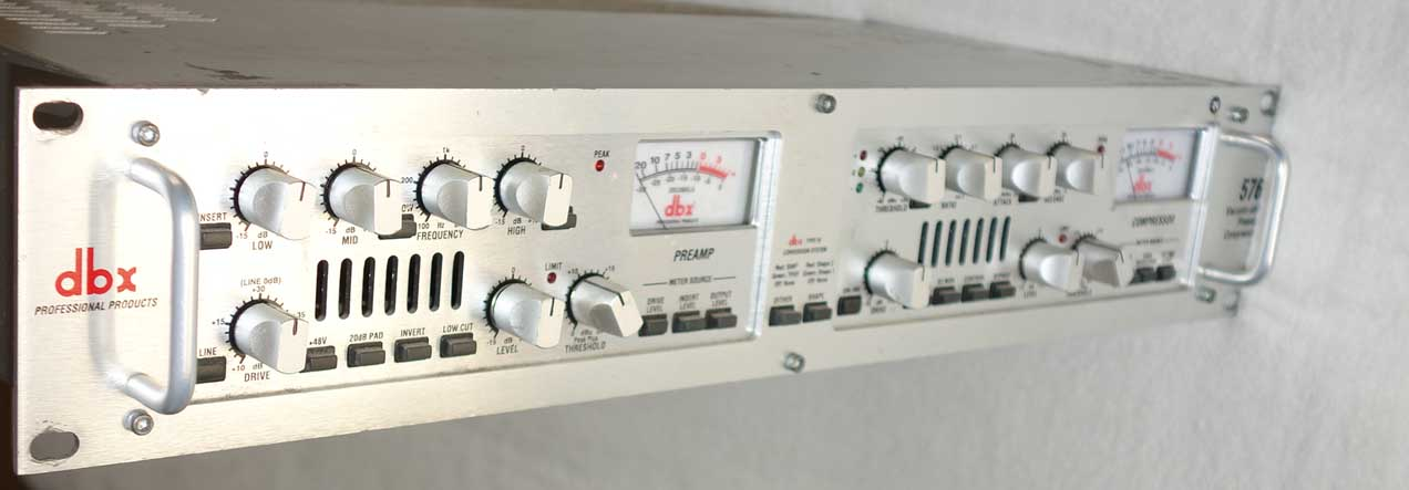 DBX 576 Channel Strip w/Tube Mic Preamp, EQ, Compressor