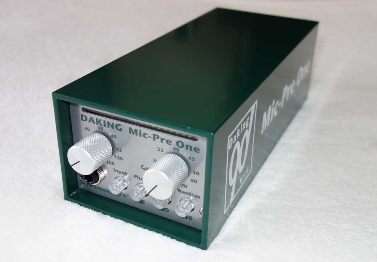 DAKING Mic-Pre One Preamp Pair in Mint Condition, w/Sequencial Serial Numbers