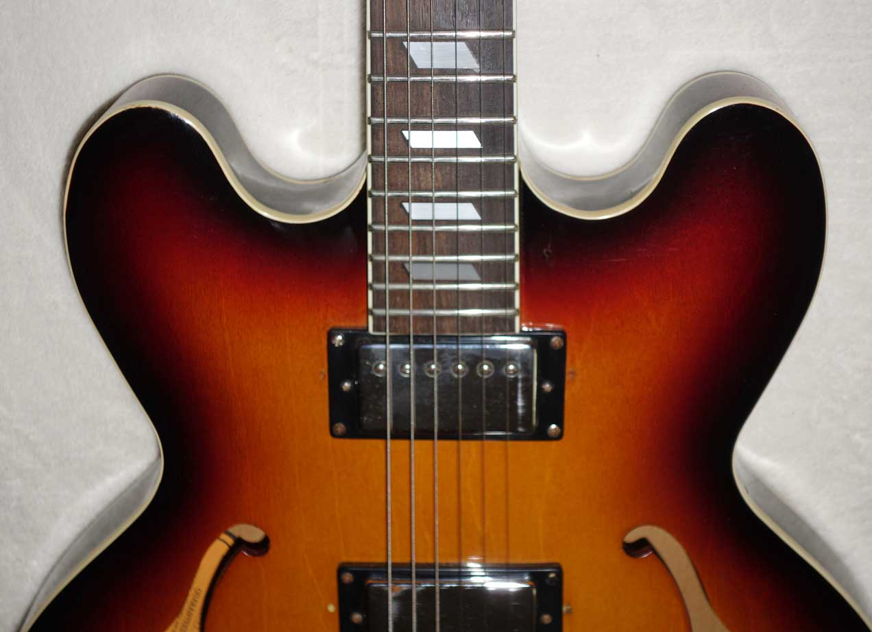 1994 Epiphone Casino Hollow Body Guitar in Sunburst, Upgraded GFS Pickups, MIK Peerless Factory