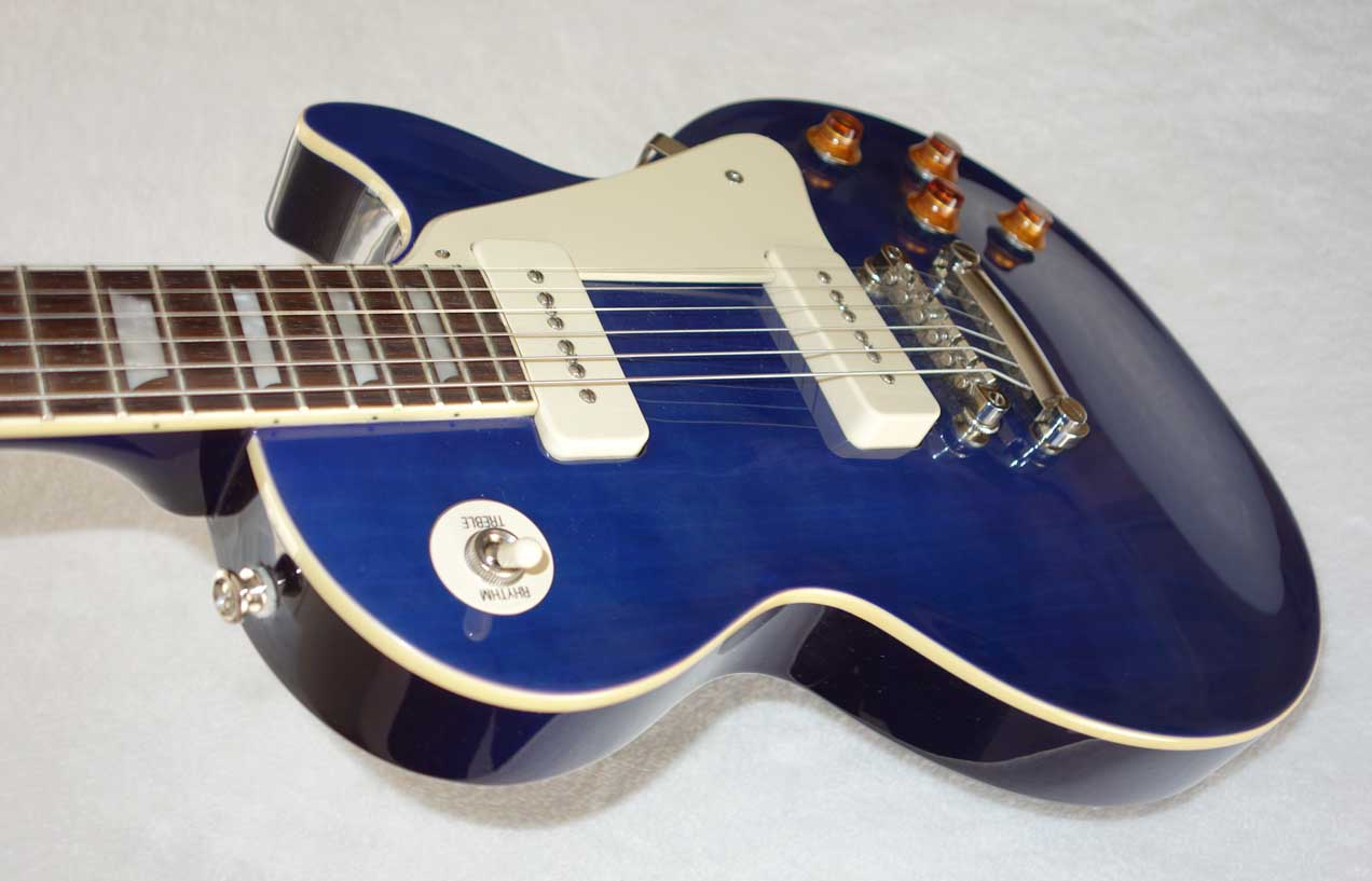 2014 Epiphone '56 Les Paul Standard P90 Pro Guitar in Chicago Blue, All Original