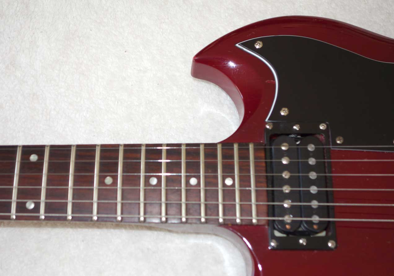 Vintage 1982 Epiphone AMERICA SERIES SG Special II Ferrari Red, w/Shaw PAF Reissue PUPs Hollow Body Guitar in Burgundy Wine, All Original