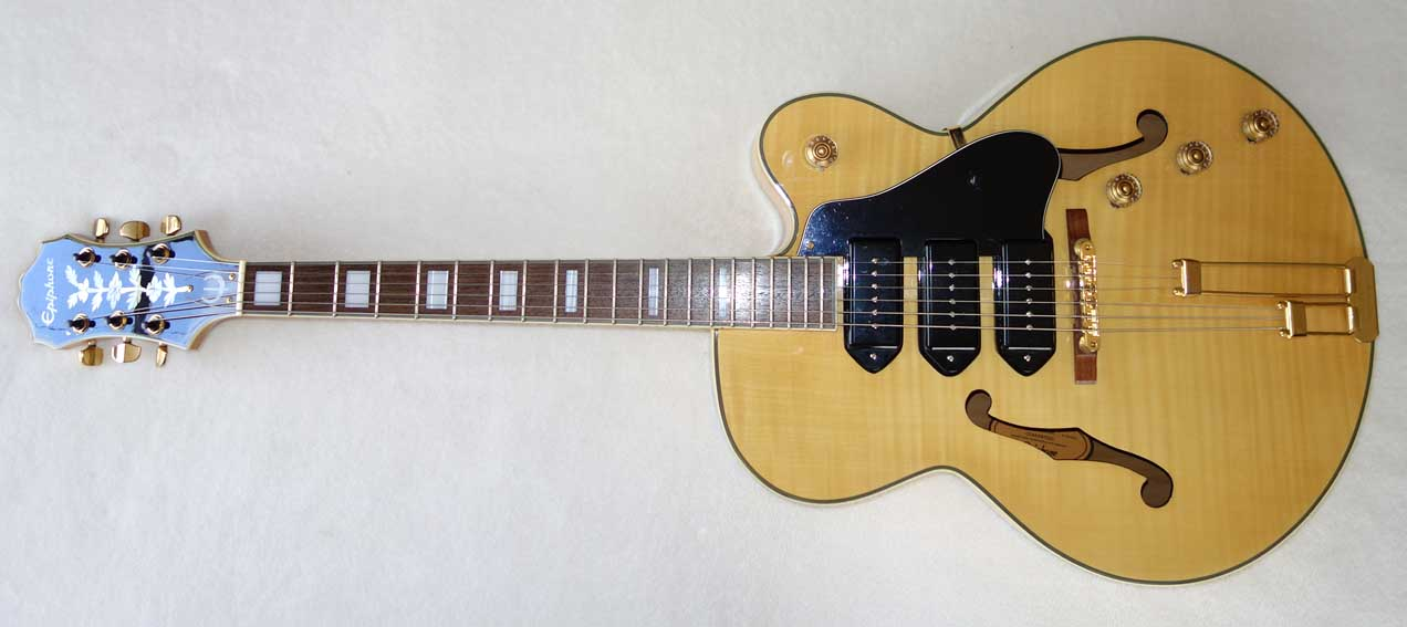 2004 Epiphone Zephyr Blues Deluxe w/Upgraded Tuners, Hardshell Case MIK / Peerless (South Korea)