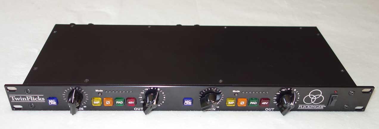 Flickinger Twin Flicks Dual Channel, Dual Op-Ap 72 dB Preamp