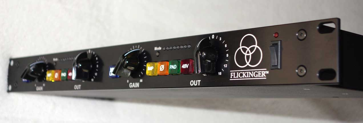 Flickinger Twin Flicks Dual Channel, Dual Op-Ap 72 dB Preamp