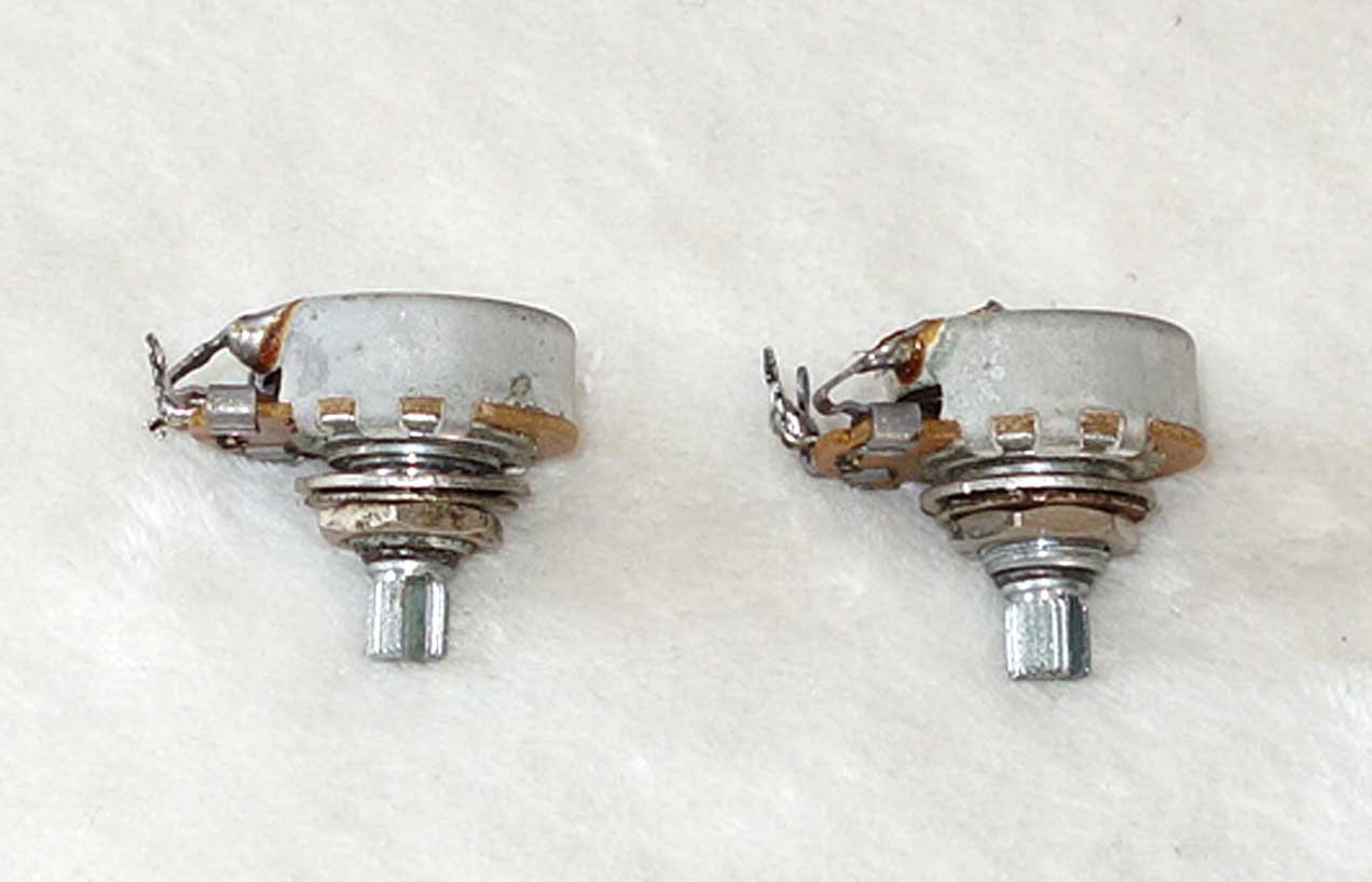 Vintage 1965 Gibson Centralab 2x 250k Tone Pots Set w/Matching Date Codes: 65-41