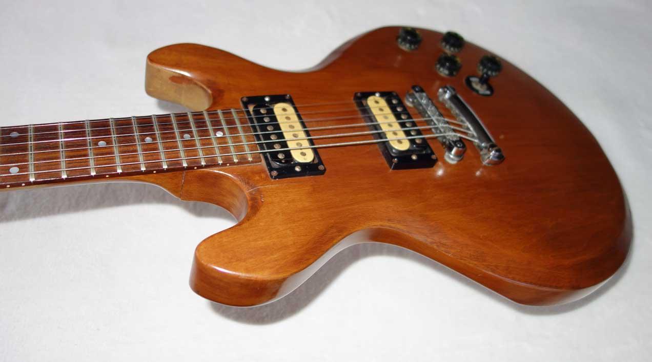 vintage 1980 gibson firebrand 335 s standard solid body guitar in natural all original. Black Bedroom Furniture Sets. Home Design Ideas
