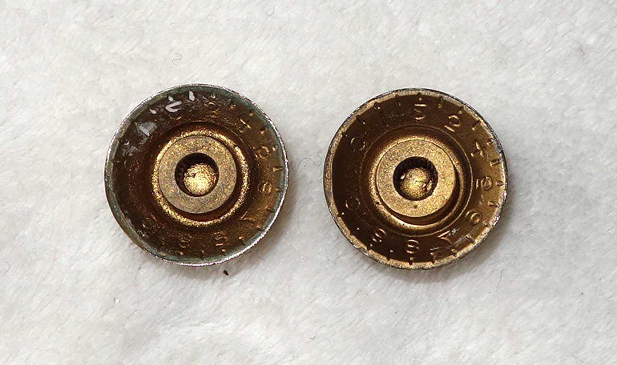 Vintage 1960-61 Gibson Set of 2x Gold Top Reflector Knobs, 1x Volume + 1x Tone