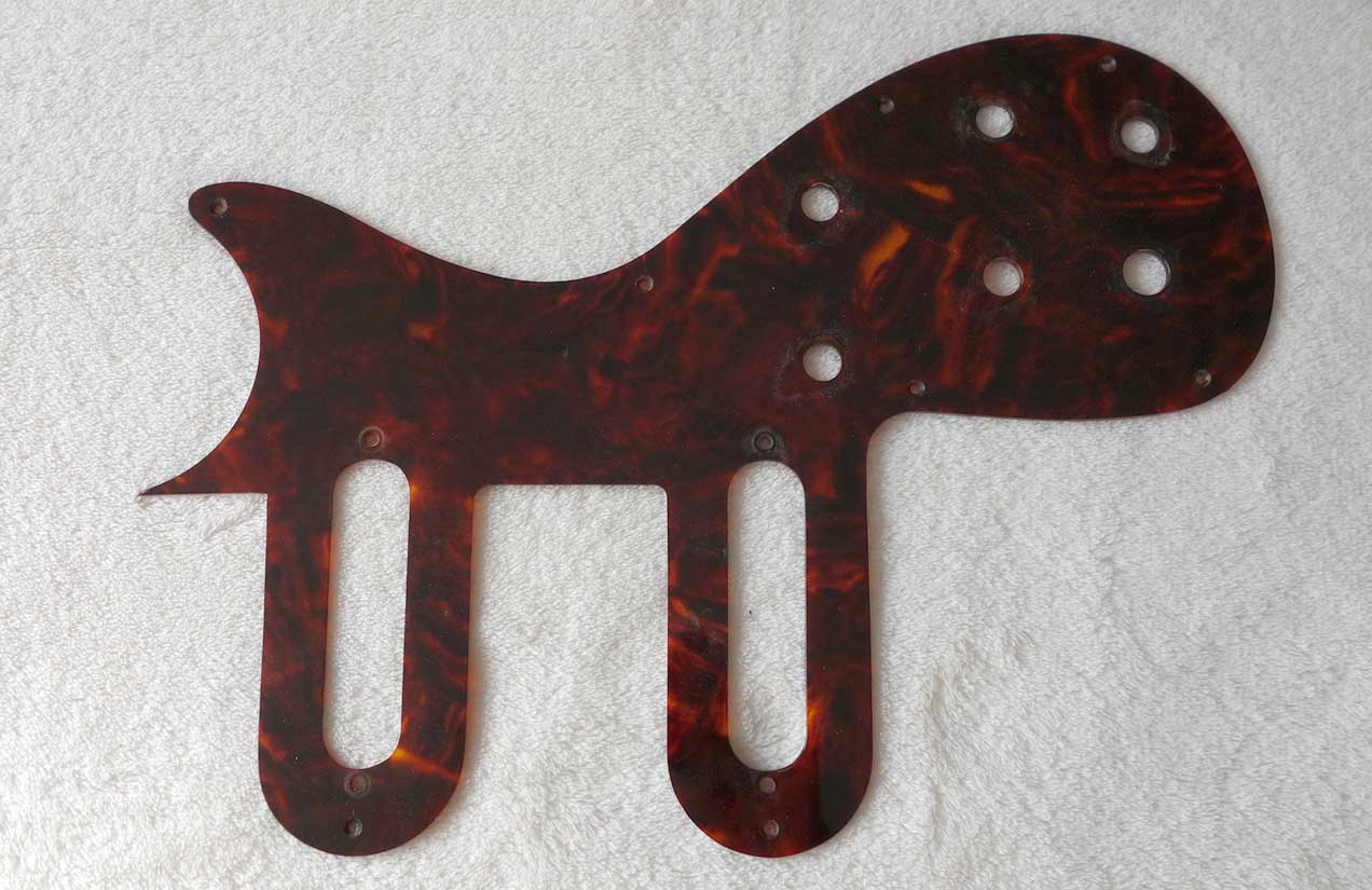 Vintage 1961 Gibson Pickguard for Melody Maker / Olympic w/Body Style 2 Tortoise Shell Cellulose