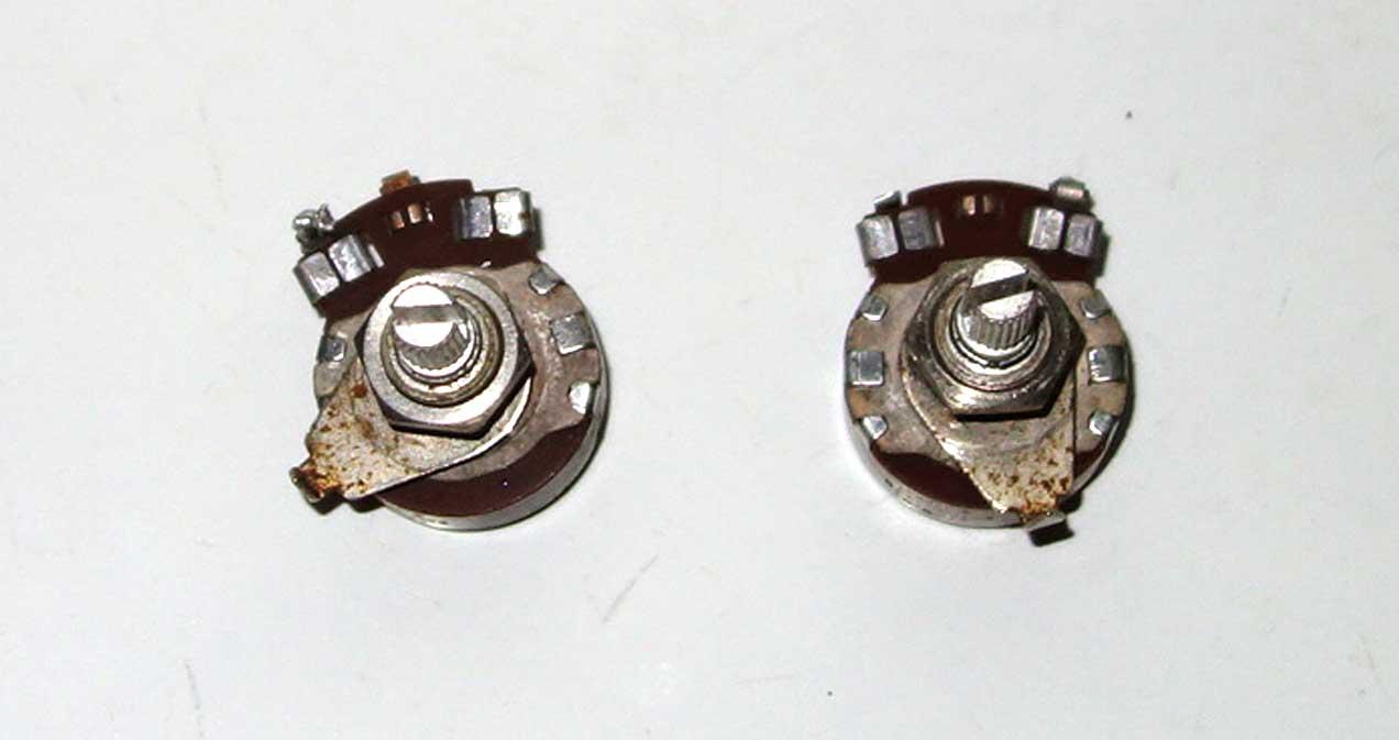 Vintage 1961 Centralab / GIBSON 500k Pot Set, Date Code 6148