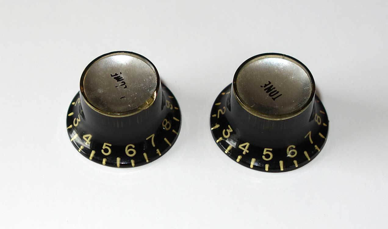 Vintage 1962 Gibson 2x Reflector Knobs Set