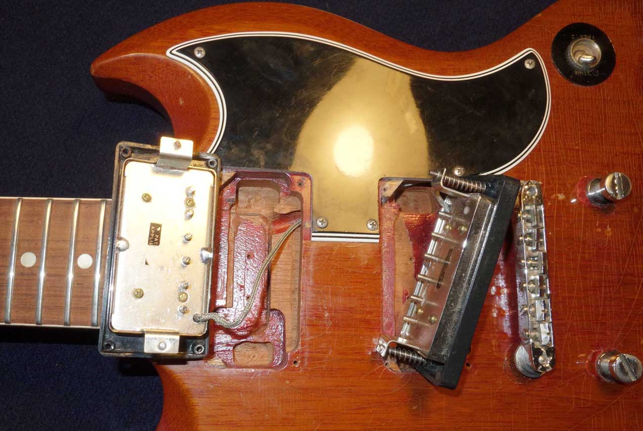 "Vintage 1962 ""Poker Chip"" Ring & Nut From a 1962 Gibson SG Special"