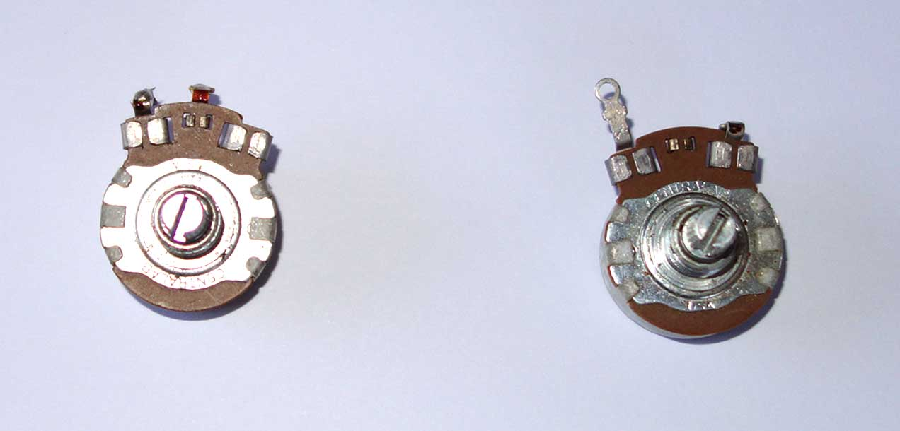 Vintage 1965 Gibson Centralab 2x 500k Pots Set Matching Date Codes: 65-4x Measured Resistance: 459k, 456k