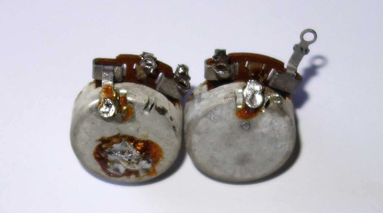 Vintage 1965 Gibson Centralab 2x 500k Pots Set Matching Date Codes: 65-4x Measured Resistance: 459k, 456k