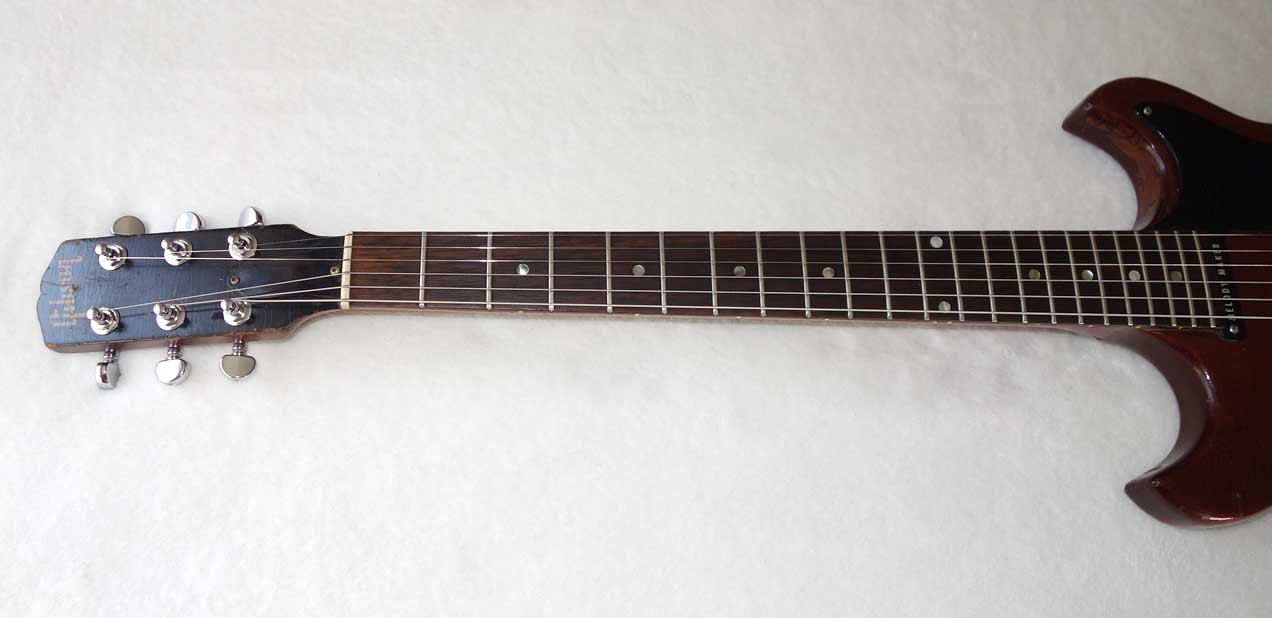 Vintage 1965 Gibson Melody Maker Electric Solid  Body Guitar in Cherry, Original Pots & Knobs