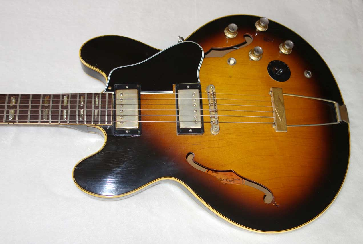 Vintage 1966 Gibson ES-345 w/Varitone Removed -- ES-335 Mod Original Patent Number PUPs, Older Style Mickey Mouse Ears