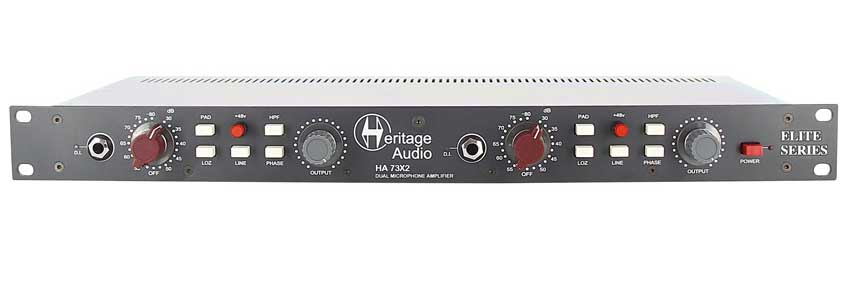 Heritage Audio ELITE SERIES HA73x2 Dual-Channel Mic Preamp Brand New in Unopened Box -- Authorized Heritage Audio Dealer --