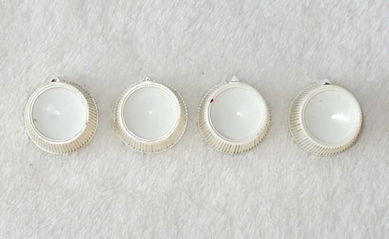 Vintage Gibson / Kalamazoo 1966 4x White Knobs, Matched Set For Kalamazoo KG-2 Guitars