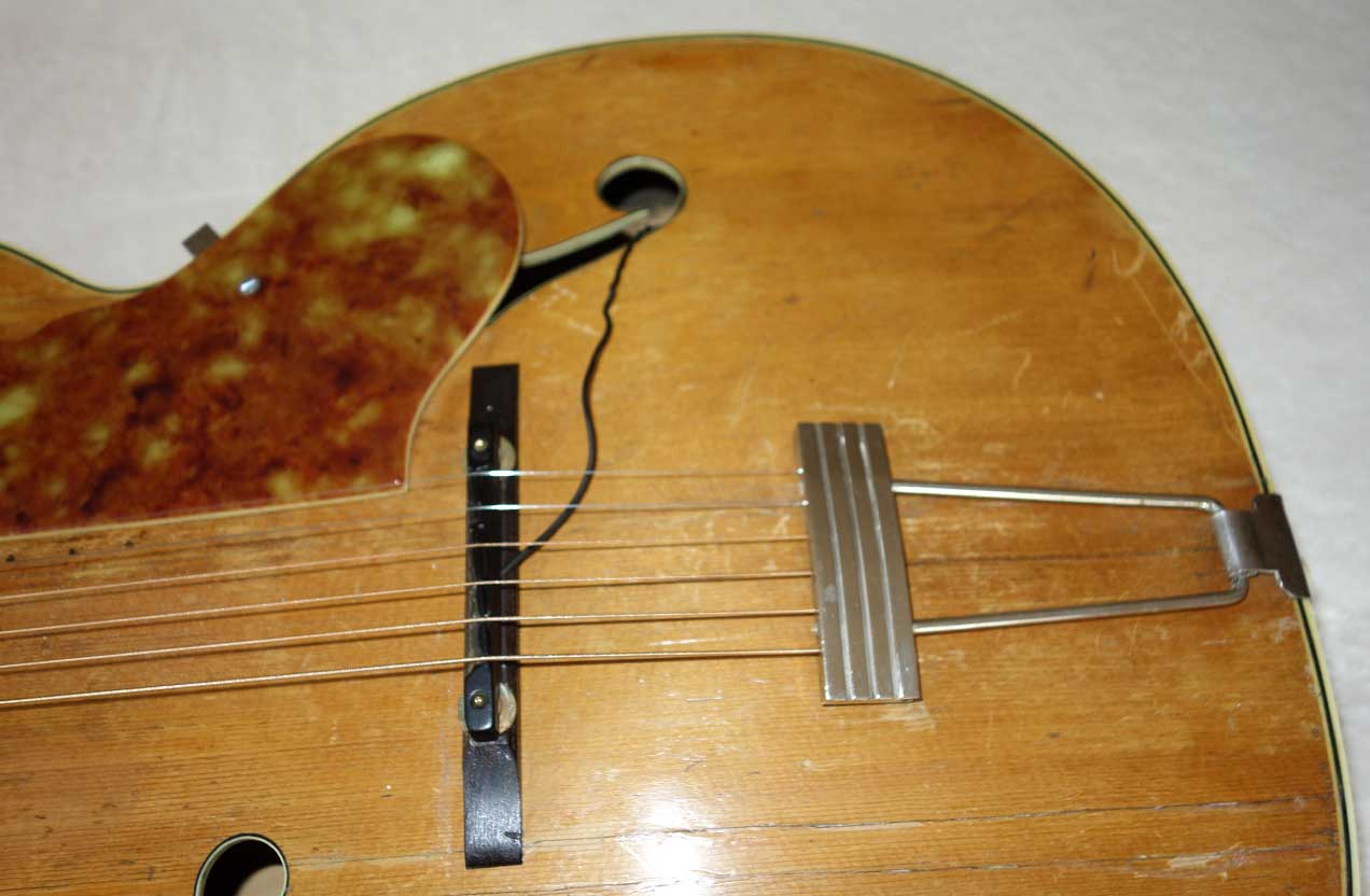 Vintage 1950 Sherwood Deluxe by Kay Acoustic Archtop w/Solid Spruce Top, Pickup