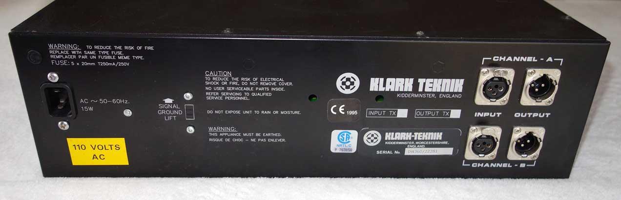 Used Klark Teknik DN360 Dual-Channel Graphic Equaliser