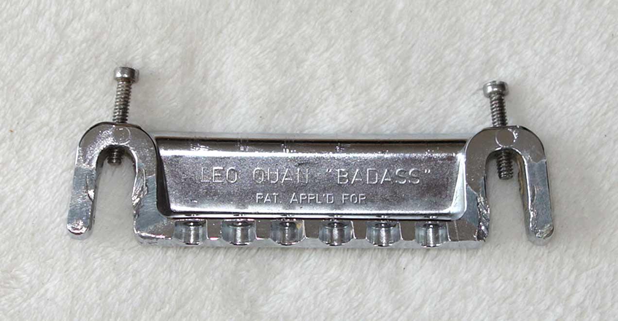"Vintage 1970s Leo Quan ""Badass"" Intonable Wraparound Bridge Tailpiece"