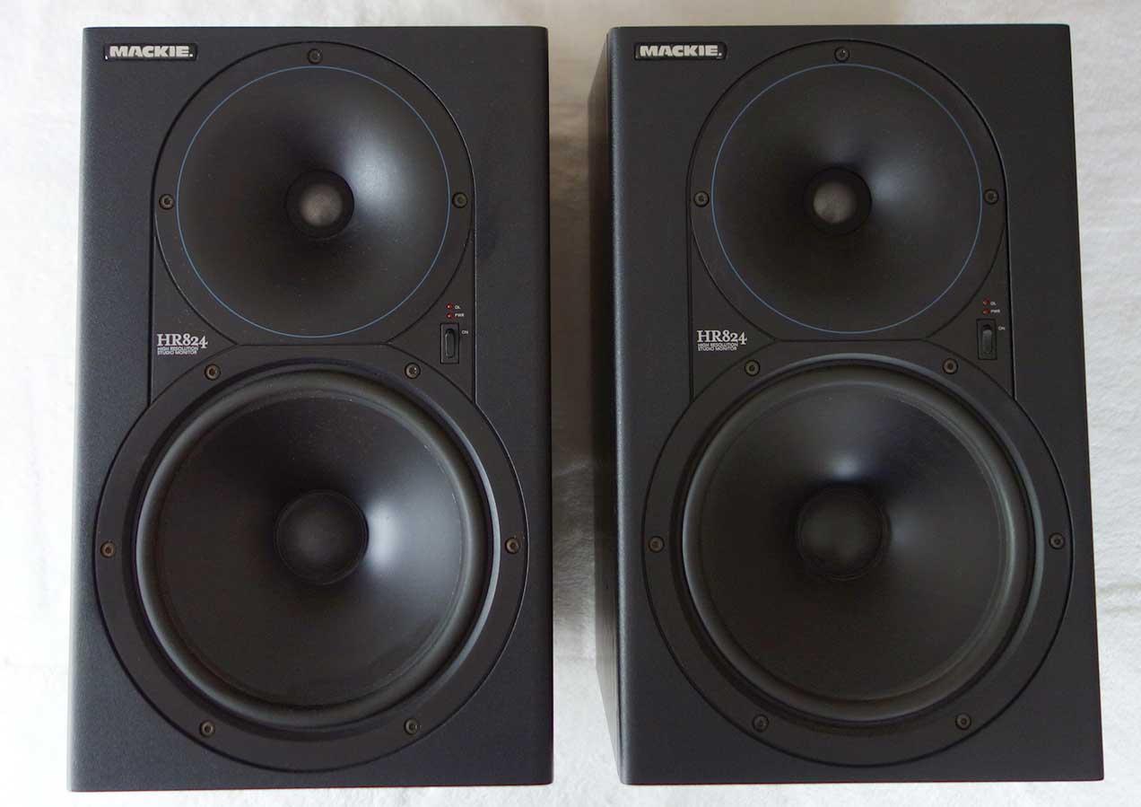 Mackie HR824 Powered Monitor Pair w/Original Boxes, Mase in USA Version 1