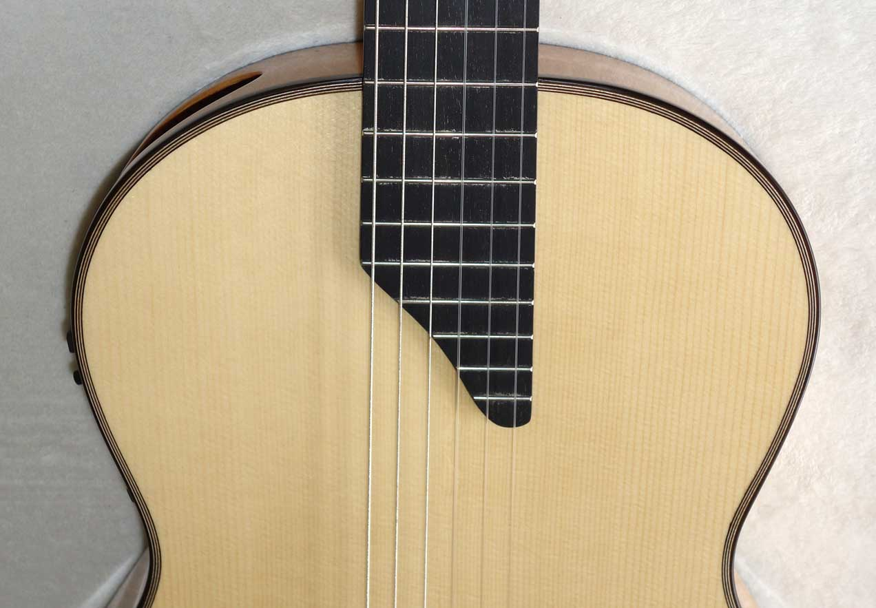 Martinez Crossover Nylon-String Guitar, w/Fishman Pickup, Sound Port, Hardshell Case