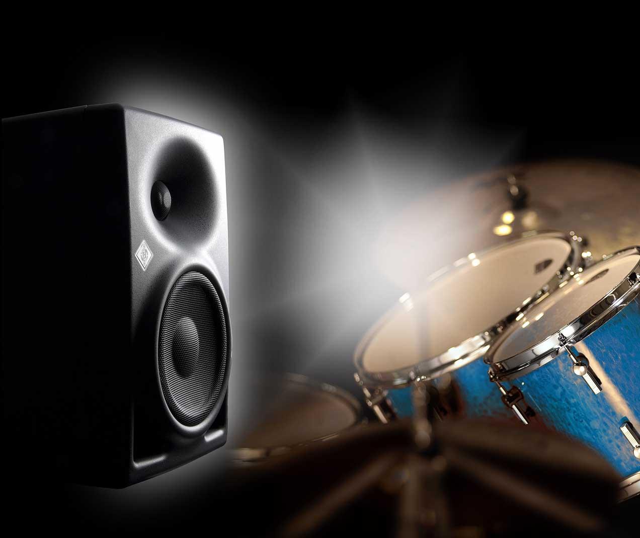 """Neumann KH 120 Powered Monitor, 100-Watt Powered, Bi-Amped, 5.25"""" Nearfield Studio Monitor Monitors, New-In-Box"""