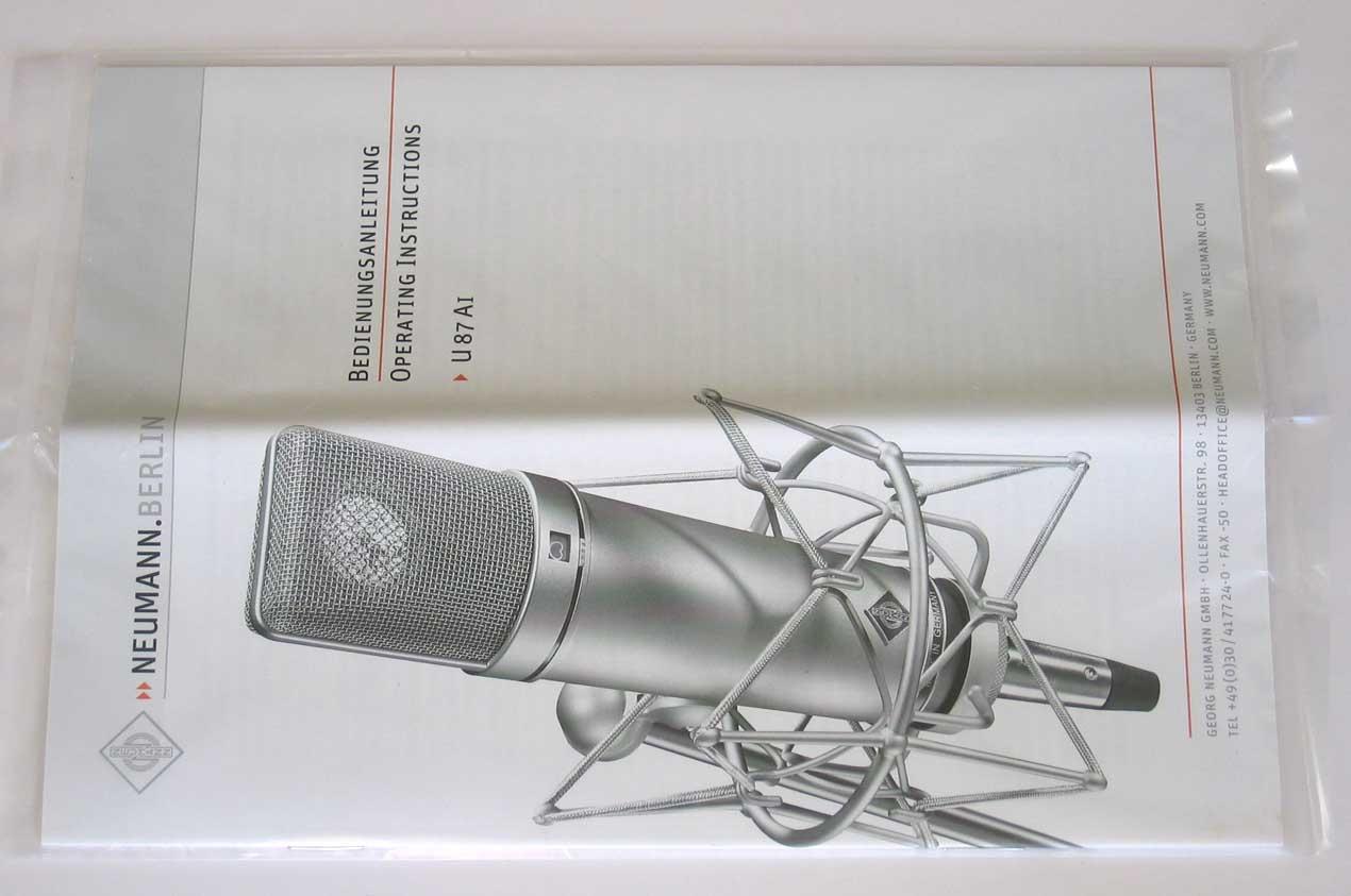 2019 Dealer Demo NEUMANN U87Ai Condenser Microphone, w/Free Aftermarket Shockmount