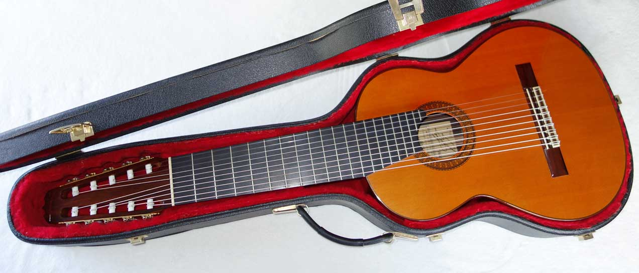 Vintage 19879 Ramirez 1a 10-String Classical Harp Guitar w/Care, All Original [Cedar/Indian]