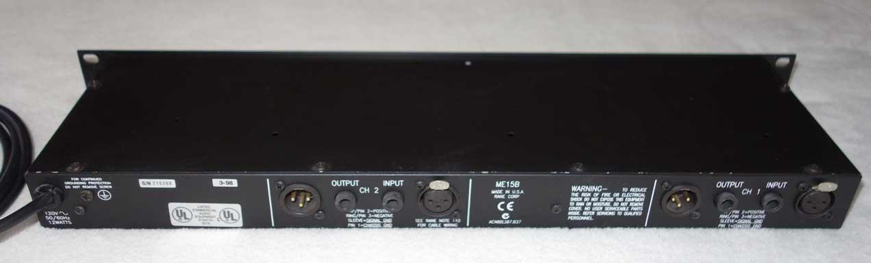 Used RANE ME15b Dual-Channel Graphic EQ