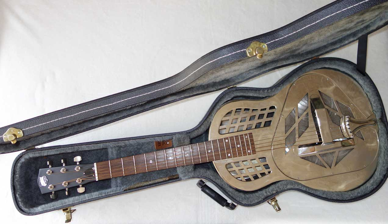 Used Recording King RM-991 Tri-Cone Resonator Guitar w/Round neck, Steel Resonator Guitar, TKL Case