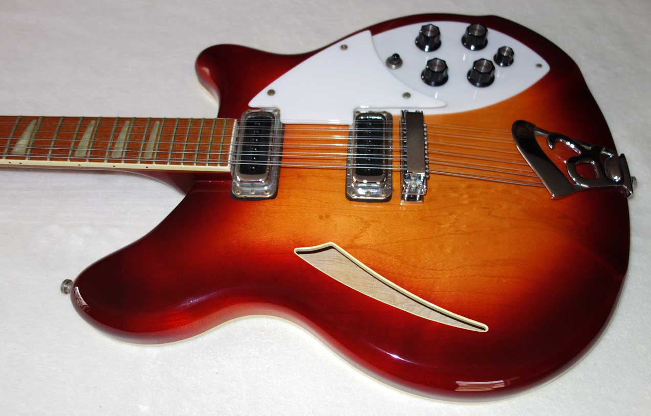 1980 Rickenbacker 360-12 Fireglo w/Upgraded Bridge, Hardshell Case