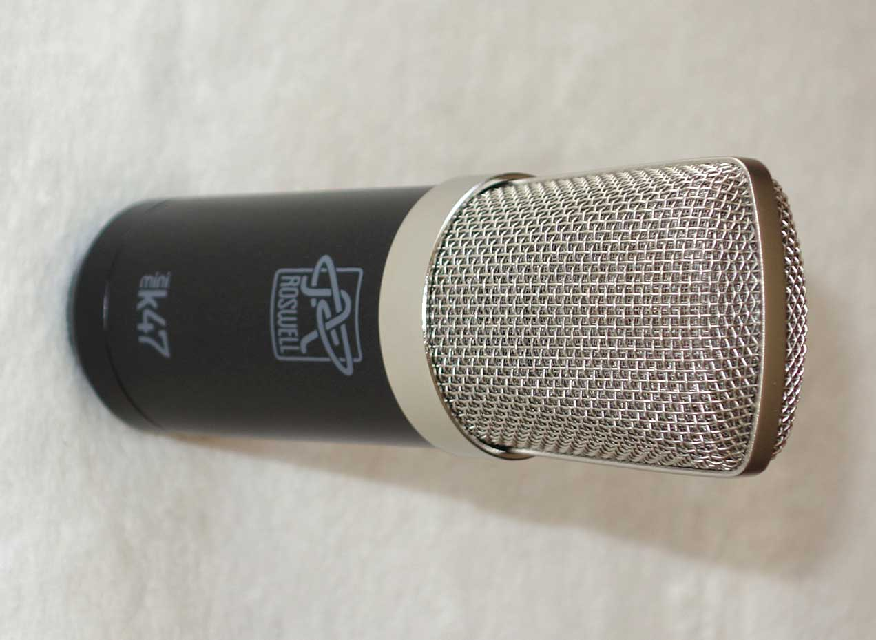 Roswell Pro Audio Mini K47, Studio Quality Cardioid Condenser Mic, w/Shockmount, Flight Case