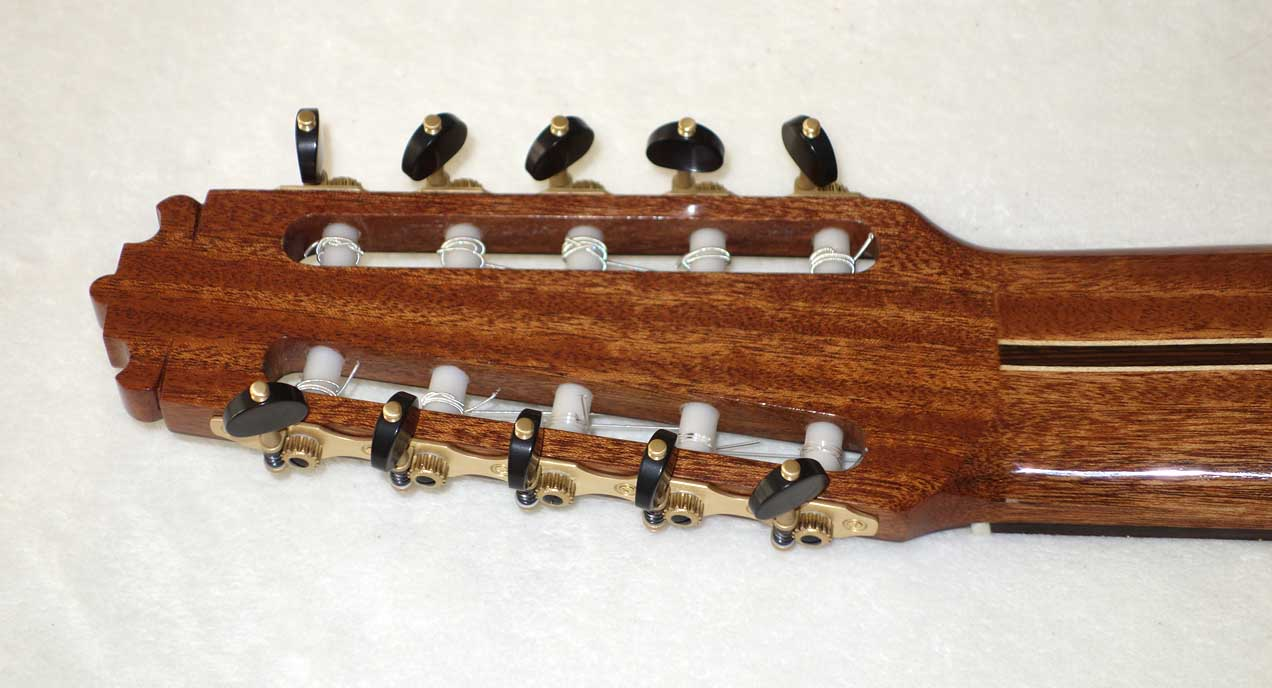 NEW Rubner Custom 10-String Tuning Machines 5-On-A-Plate w/Teflon Coated Bearings, Brass Plates, Made in Germany