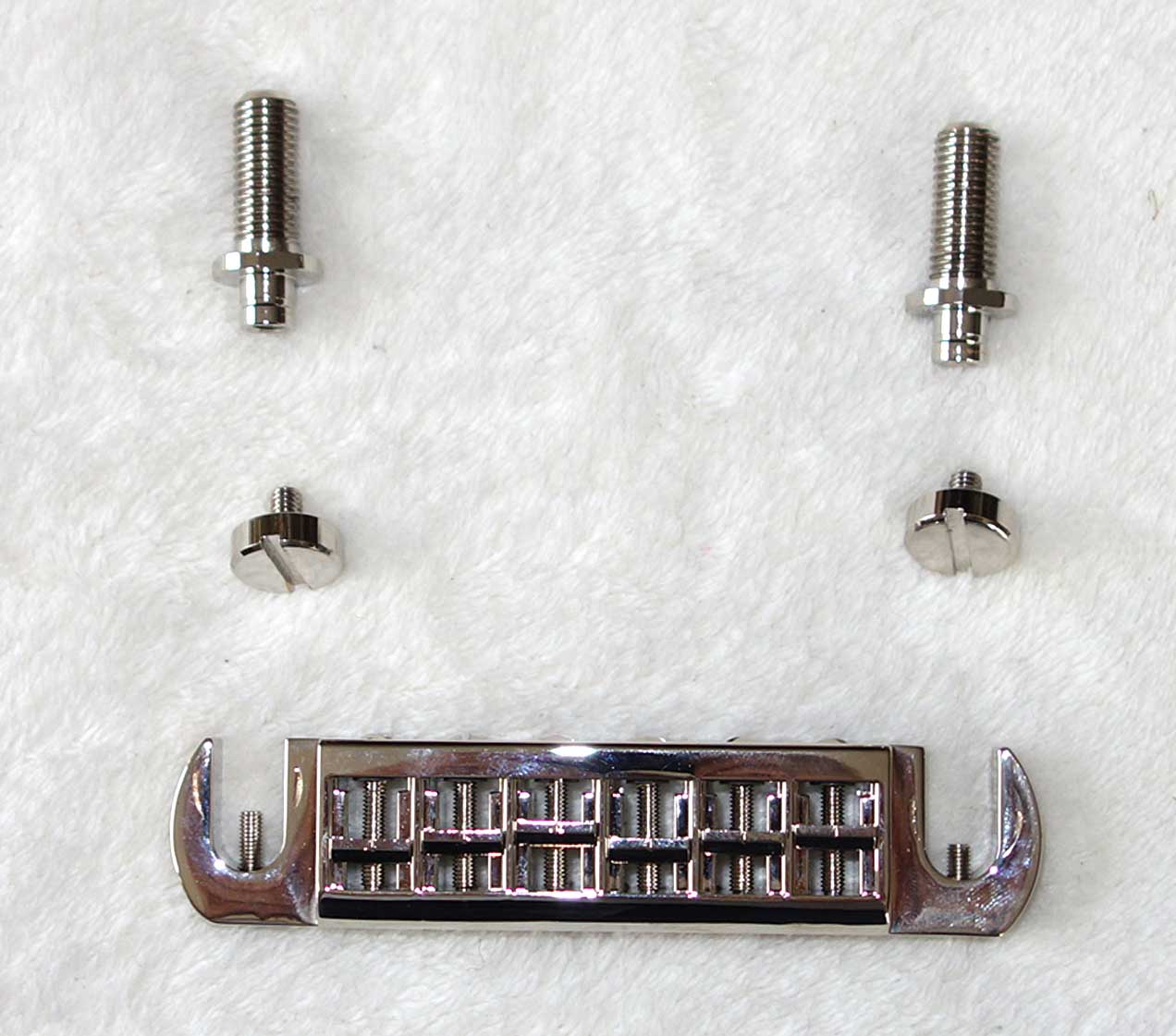 Used TonePros ATV-2 Intonable Wraparound Bridge Tailpiece for Les Paul Junior, SG Special, Melody Maker, Epi Coronet + Several Others