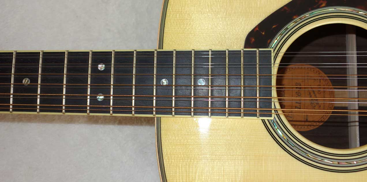 YAMAHA LL-16-12, Excellent Condition 12-String All-Solid A.R.E. Guitar w/Case, Pickup