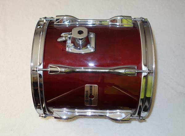 "VINTAGE 1988 Yamaha TT910 Recording Custom 10 x 10"" Mounted Tom Drum Cherry Red w/Serial # Prefix OI = Feb, 1988"
